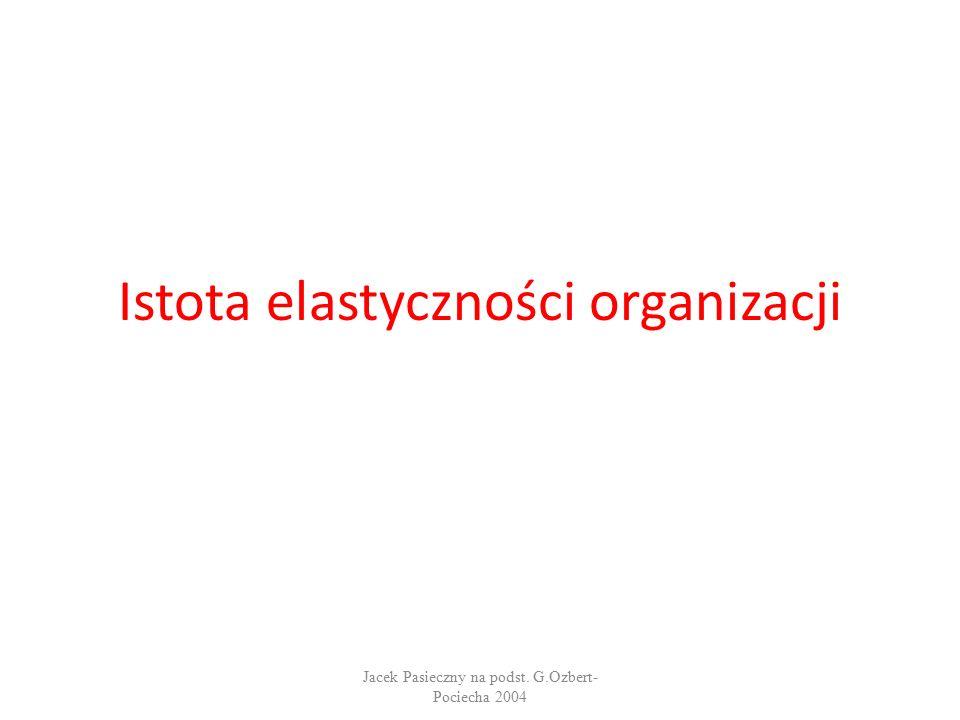 Istota elastyczności organizacji Jacek Pasieczny na podst. G.Ozbert- Pociecha 2004