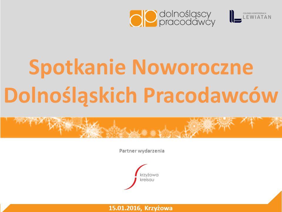 Spotkanie Noworoczne Dolnośląskich Pracodawców Partner wydarzenia 15.01.2016, Krzyżowa
