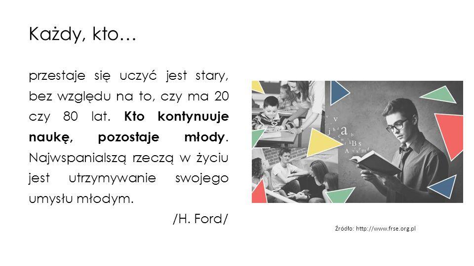 Każdy, kto… przestaje się uczyć jest stary, bez względu na to, czy ma 20 czy 80 lat.