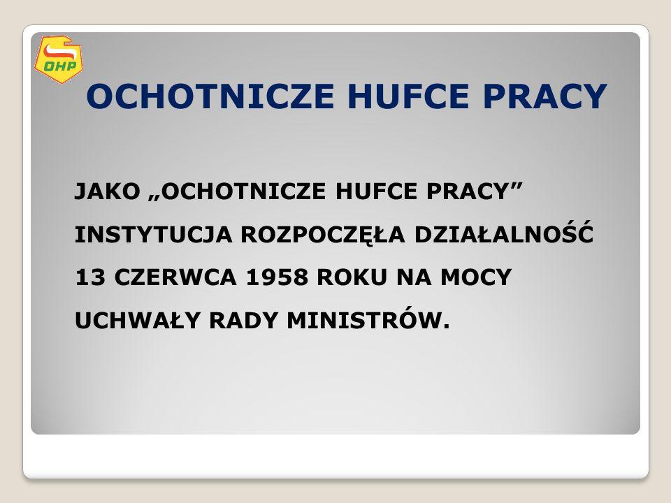 OCHOTNICZE HUFCE PRACY OCHOTNICZE HUFCE PRACY 21.X.2011 r.