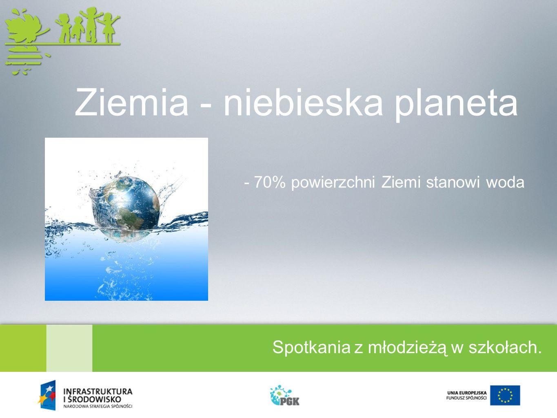Spotkania z młodzieżą w szkołach. Ziemia - niebieska planeta - 70% powierzchni Ziemi stanowi woda