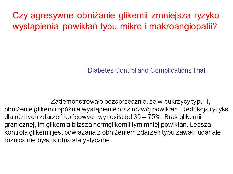 Czy agresywne obniżanie glikemii zmniejsza ryzyko wystąpienia powikłań typu mikro i makroangiopatii? Diabetes Control and Complications Trial Zademons
