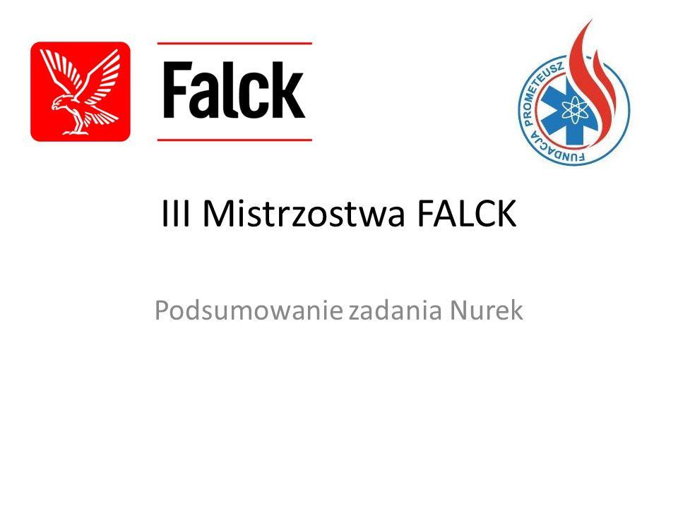 III Mistrzostwa FALCK Podsumowanie zadania Nurek