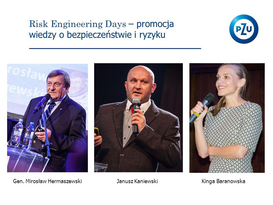 Risk Engineering Days – promocja wiedzy o bezpieczeństwie i ryzyku Kinga BaranowskaGen. Mirosław HermaszewskiJanusz Kaniewski