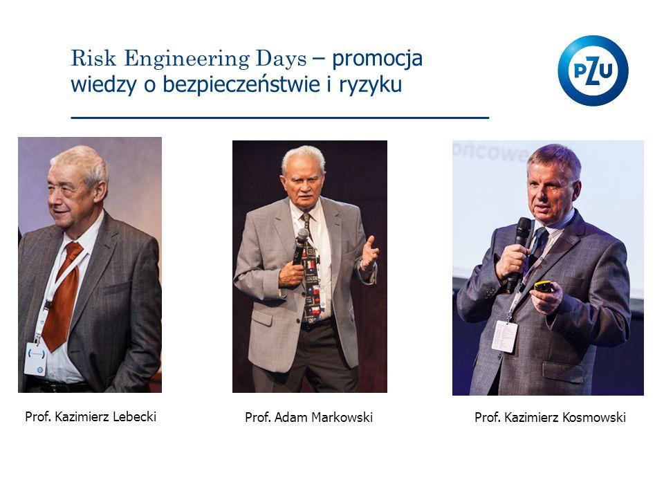 Risk Engineering Days – promocja wiedzy o bezpieczeństwie i ryzyku Prof. Kazimierz Lebecki Prof. Adam MarkowskiProf. Kazimierz Kosmowski