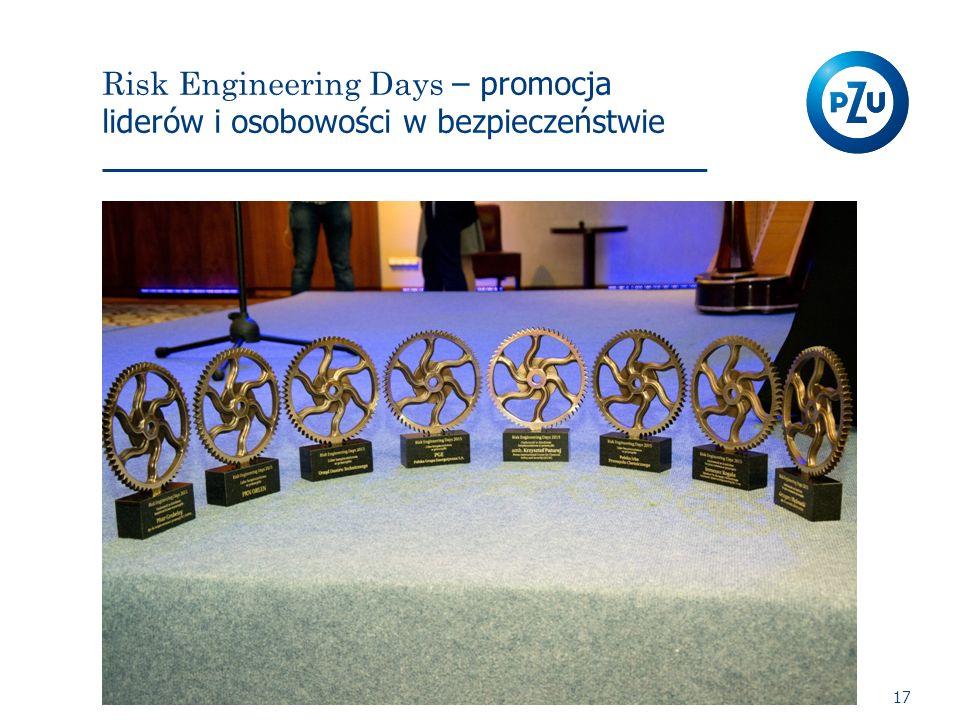 Risk Engineering Days – promocja liderów i osobowości w bezpieczeństwie 17