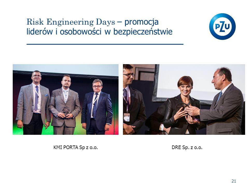 Risk Engineering Days – promocja liderów i osobowości w bezpieczeństwie 21 KMI PORTA Sp z o.o.DRE Sp. z o.o.