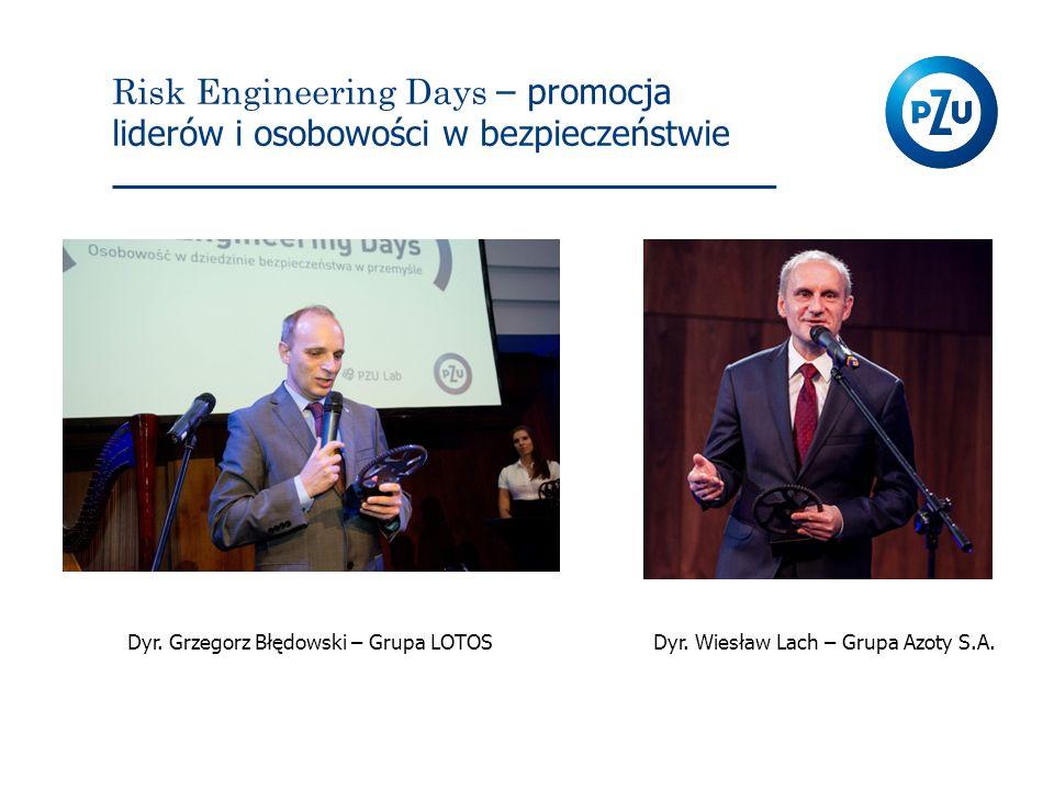 Risk Engineering Days – promocja liderów i osobowości w bezpieczeństwie Dyr. Grzegorz Błędowski – Grupa LOTOSDyr. Wiesław Lach – Grupa Azoty S.A.