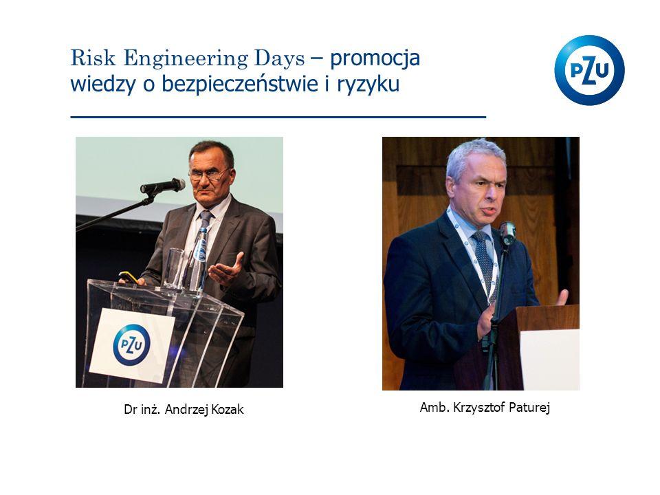 Risk Engineering Days – promocja wiedzy o bezpieczeństwie i ryzyku Dr inż. Andrzej Kozak Amb. Krzysztof Paturej