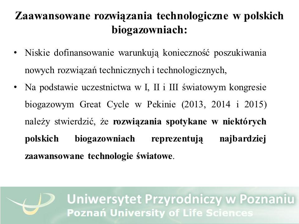 Zaawansowane rozwiązania technologiczne w polskich biogazowniach: Niskie dofinansowanie warunkują konieczność poszukiwania nowych rozwiązań techniczny