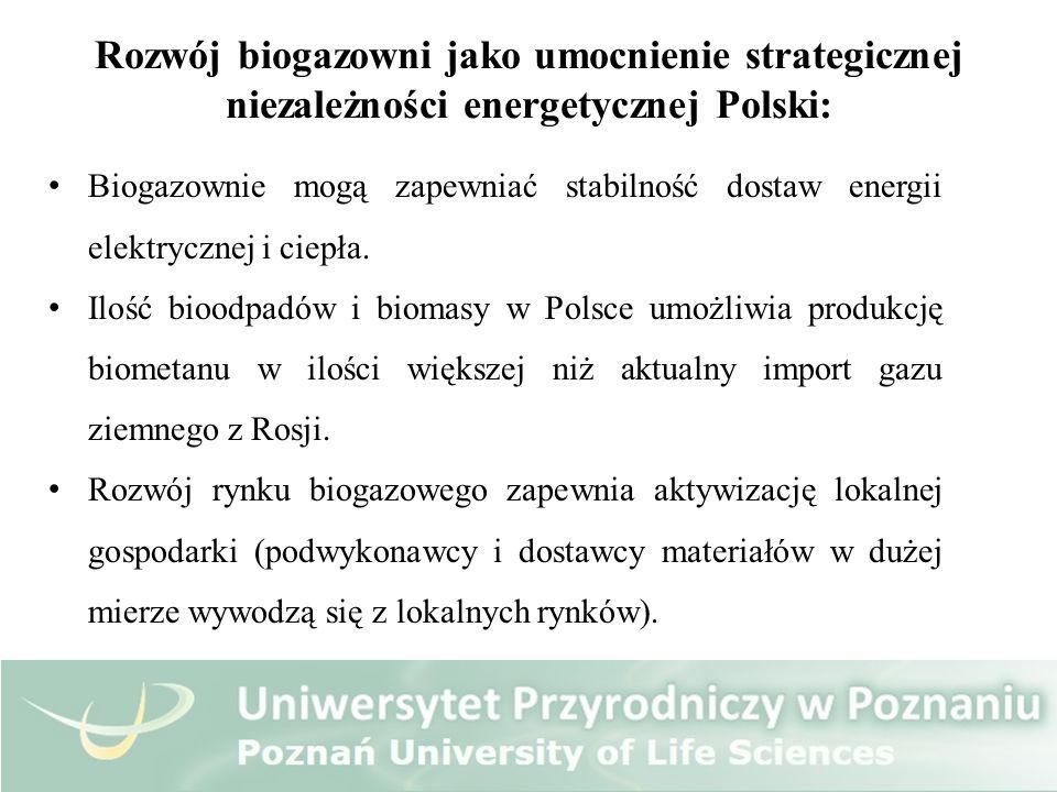 Rozwój biogazowni jako umocnienie strategicznej niezależności energetycznej Polski: Biogazownie mogą zapewniać stabilność dostaw energii elektrycznej