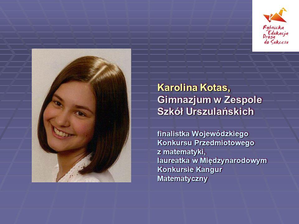 Sonia Beil, Zespół Szkół nr 2 (II Liceum Ogólnokształcące) finalistka Olimpiady Biologicznej Sonia Beil, Zespół Szkół nr 2 (II Liceum Ogólnokształcące) finalistka Olimpiady Biologicznej