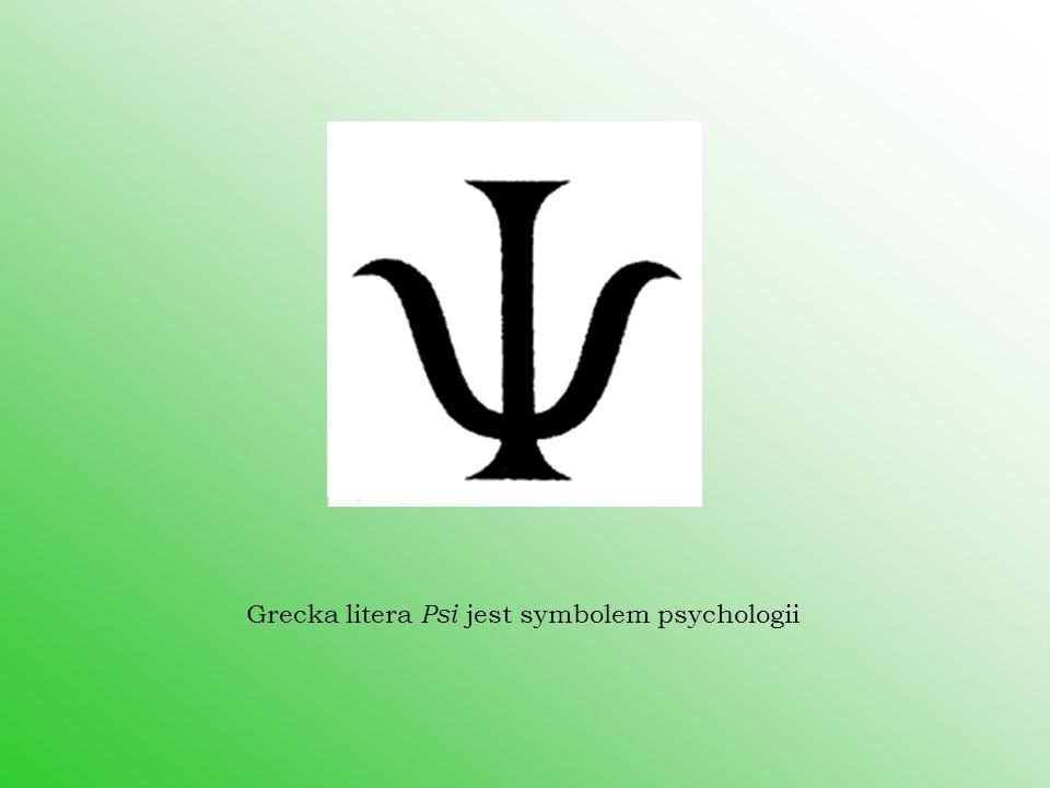 Grecka litera Psi jest symbolem psychologii