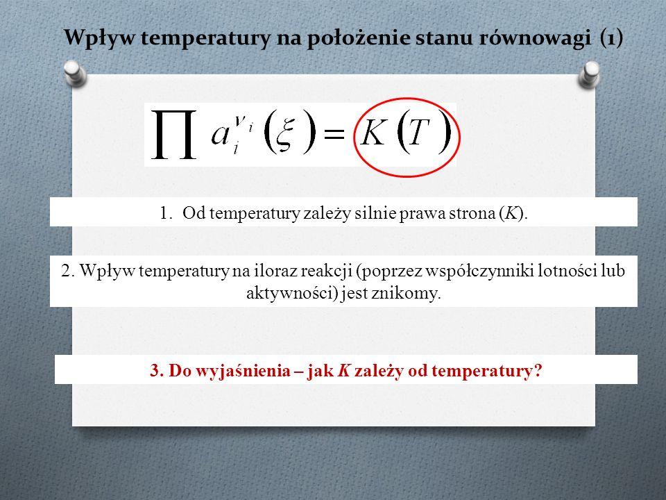Wpływ temperatury na położenie stanu równowagi (1) 1.