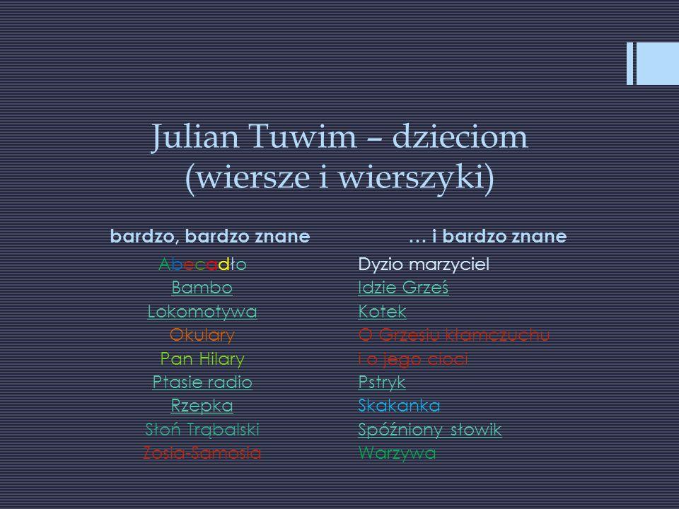 Julian Tuwim - dzieciom W PBW w Rzeszowie wydania sprzed wielu lat z ilustracjami Olgi Siemaszko, Jana Marcina Szancera, Ignacego Witza