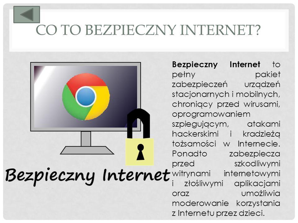 CO TO BEZPIECZNY INTERNET.