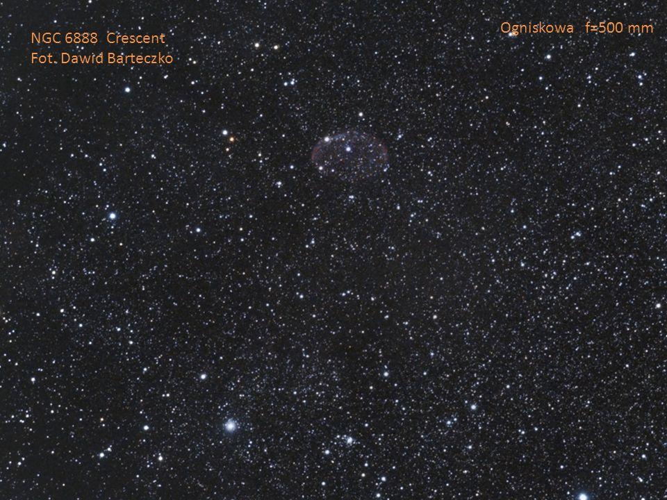 Ogniskowa f=500 mm NGC 6888 Crescent Fot. Dawid Barteczko