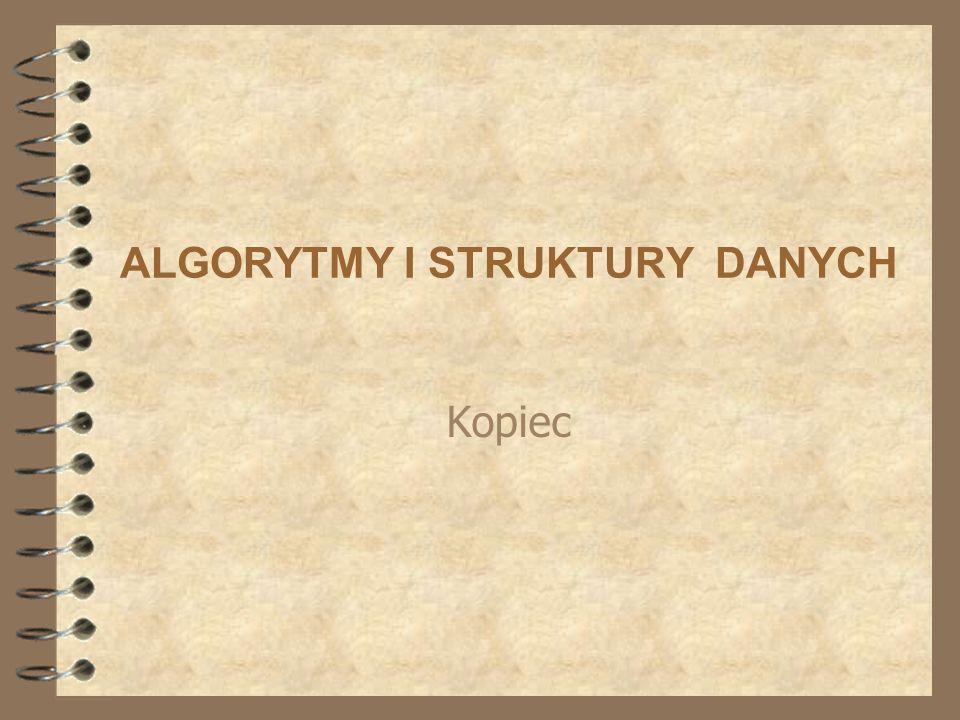 ALGORYTMY I STRUKTURY DANYCH Kopiec