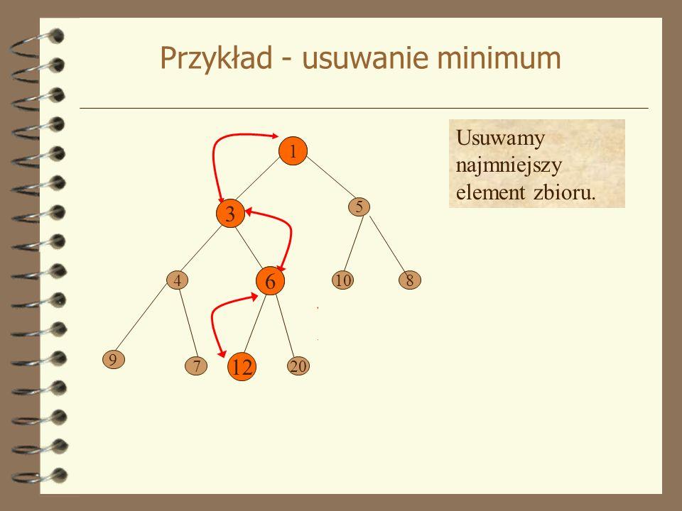 Zastosowanie 1) Z danego n elementowego zbioru utworzyć kopiec.