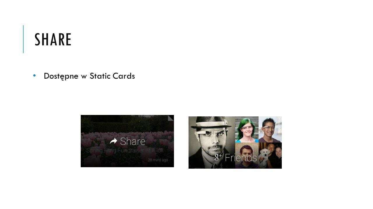 SHARE Dostępne w Static Cards