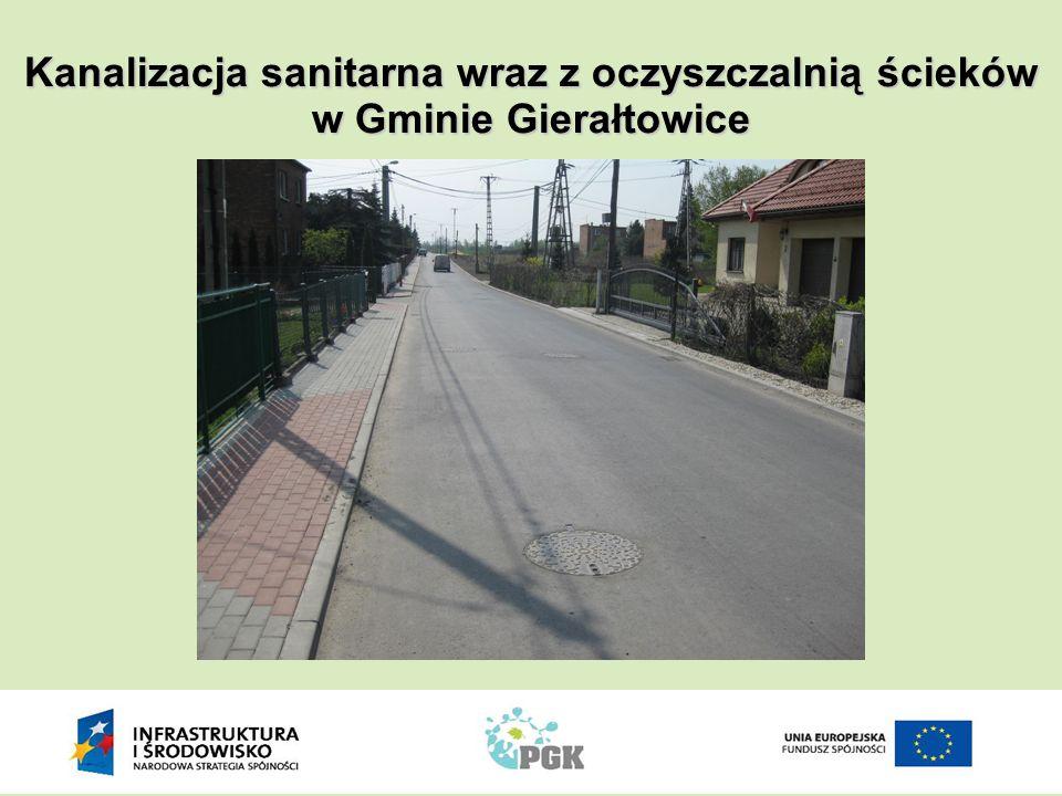 Kanalizacja sanitarna wraz z oczyszczalnią ścieków w Gminie Gierałtowice
