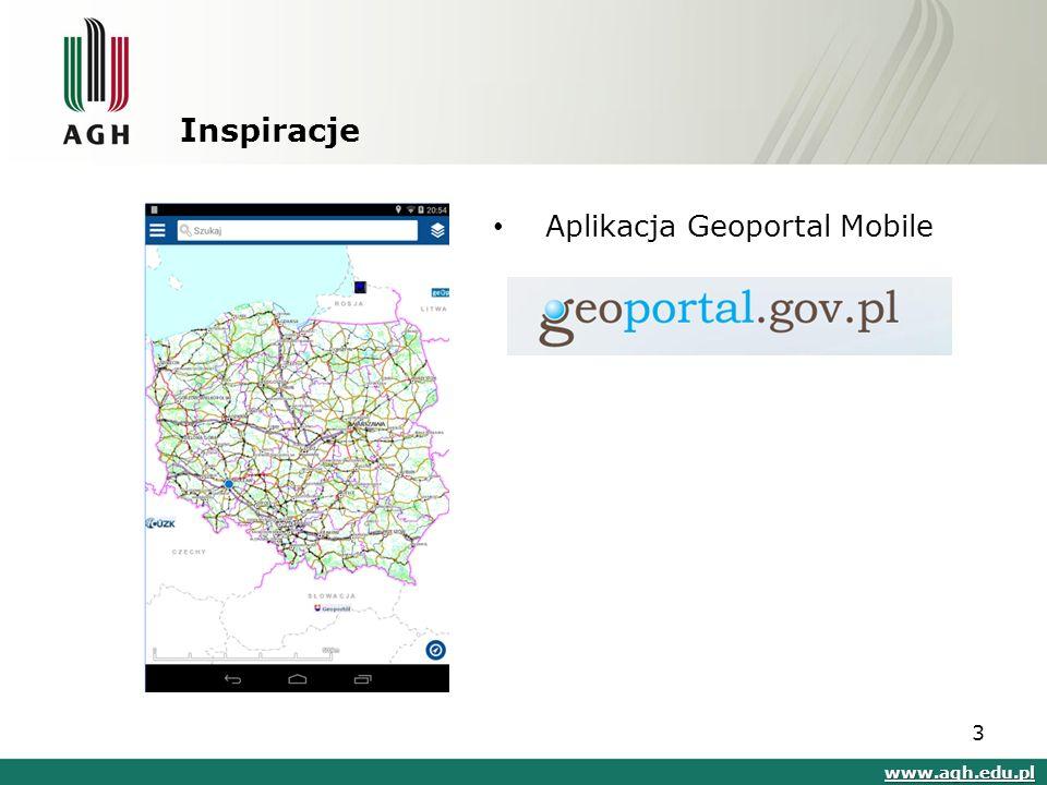 Inspiracje www.agh.edu.pl Aplikacja Geoportal Mobile 3
