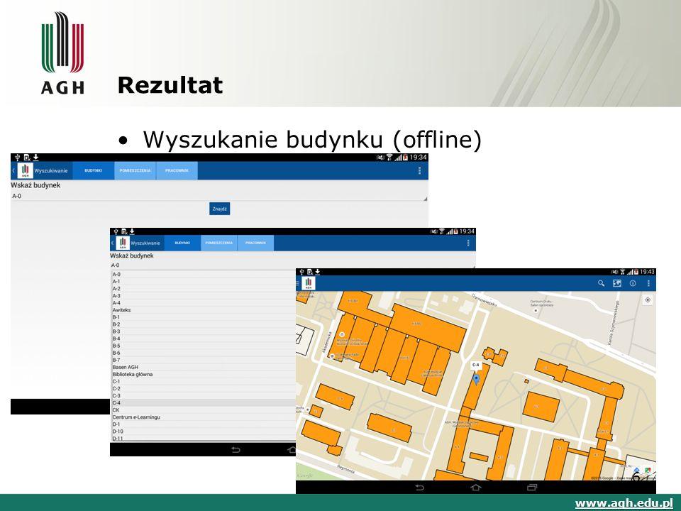 Rezultat Wyszukanie budynku (offline) www.agh.edu.pl 6