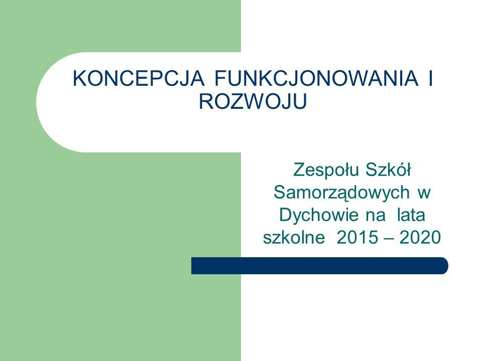 KONCEPCJA FUNKCJONOWANIA I ROZWOJU Zespołu Szkół Samorządowych w Dychowie na lata szkolne 2015 – 2020