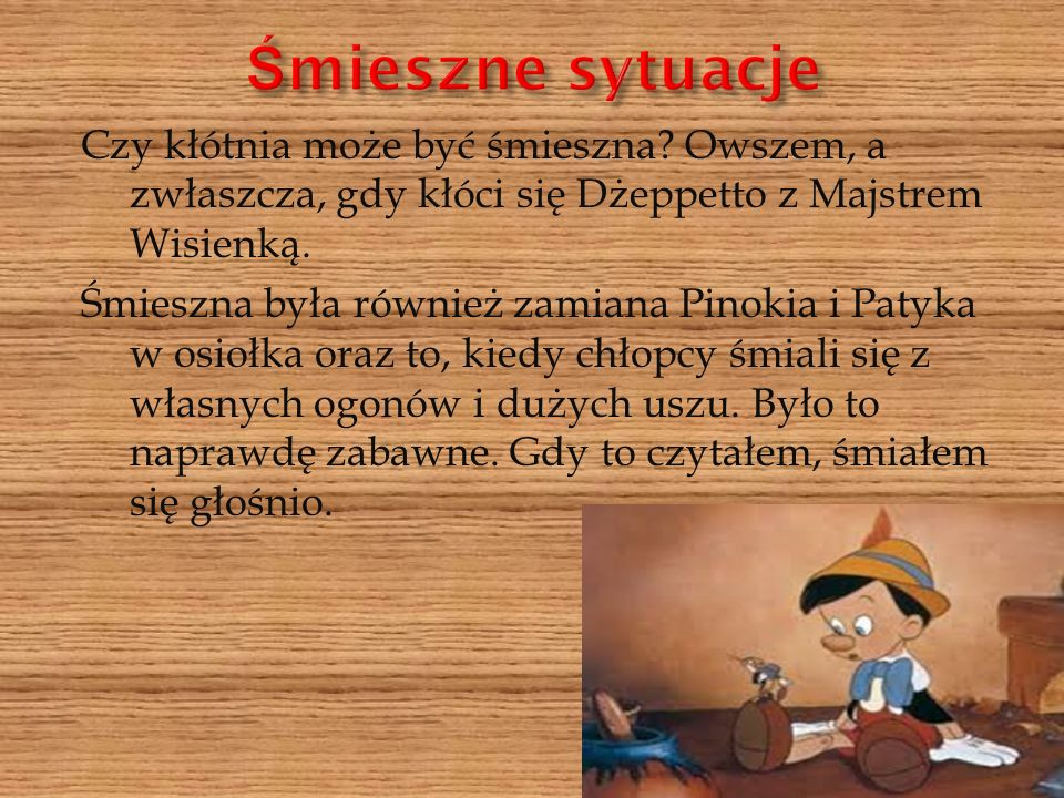 Bardzo zachęcam do przeczytania lektury,,Pinokio .