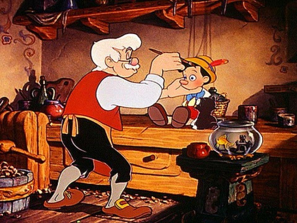 Jak myślicie, czy Pinokio był grzeczną kukiełką zaraz po wyrzeźbieniu.