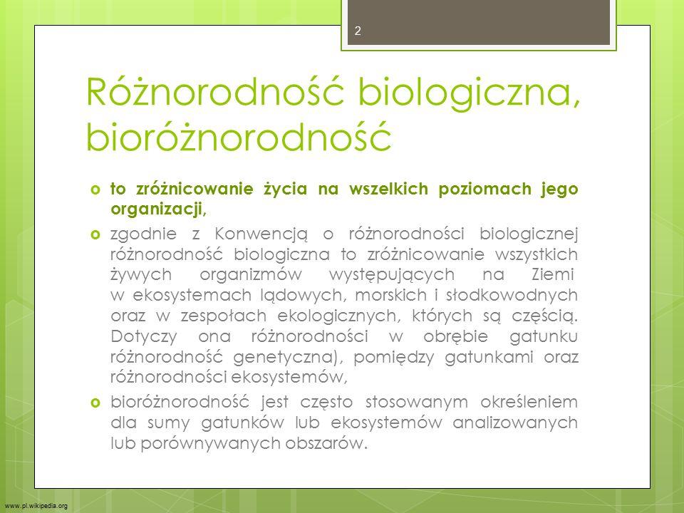 Różnorodność biologiczna, bioróżnorodność  to zróżnicowanie życia na wszelkich poziomach jego organizacji,  zgodnie z Konwencją o różnorodności biol