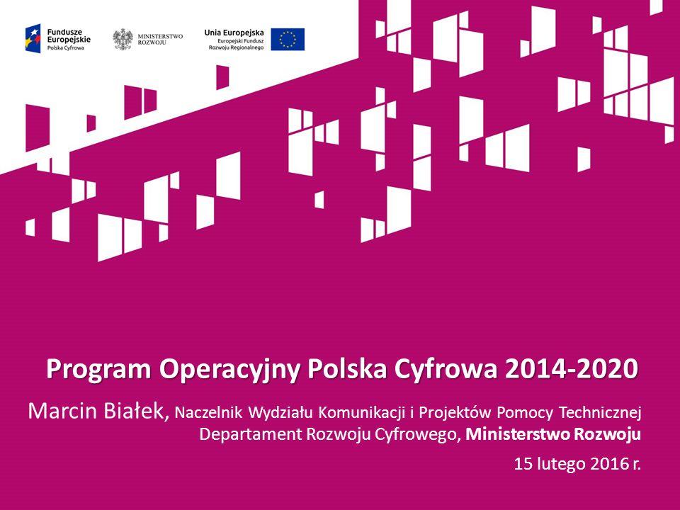 SzOOP POPC Szczegółowy opis osi priorytetowych Programu Polska Cyfrowa 2014-2020 zawiera takie informacje jak: typy projektów, typy beneficjentów, plan finansowy, formy wsparcia oraz poziom dofinansowania.