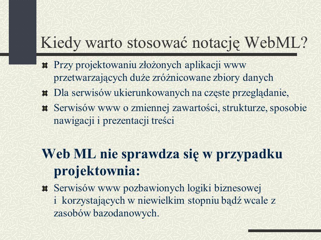 Kiedy warto stosować notację WebML.