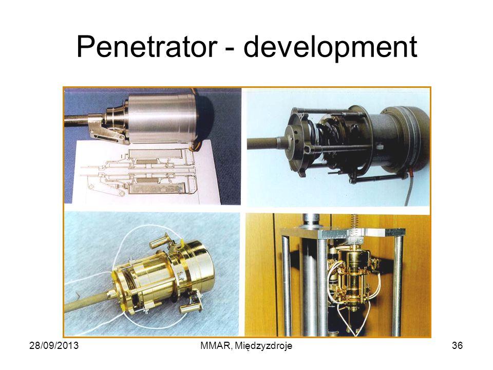 Penetrator - development 28/09/2013MMAR, Międzyzdroje36