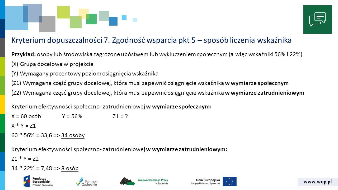 www.wup.pl Kryterium dopuszczalności 7.