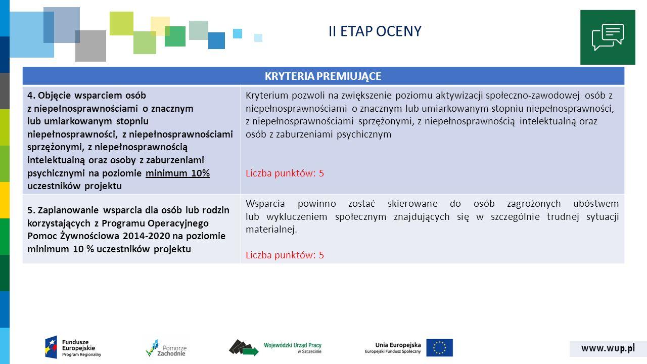 www.wup.pl KRYTERIA PREMIUJĄCE 4.