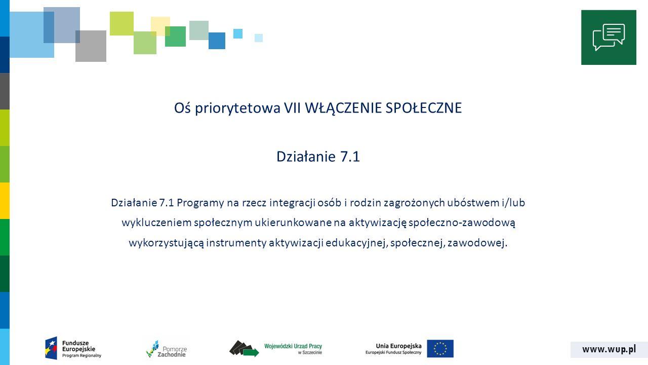 www.wup.pl DOFINANSOWANIE PROJEKTÓW Alokacja16.764.705,88 zł Rezerwa na odwołania838.235,29 zł Wsparcie finansowe EFS15.000.000,00 zł Wsparcie finansowe krajowe1.764.705,88 zł Wkład własny5% Dofinansowanie ze środków UE85%