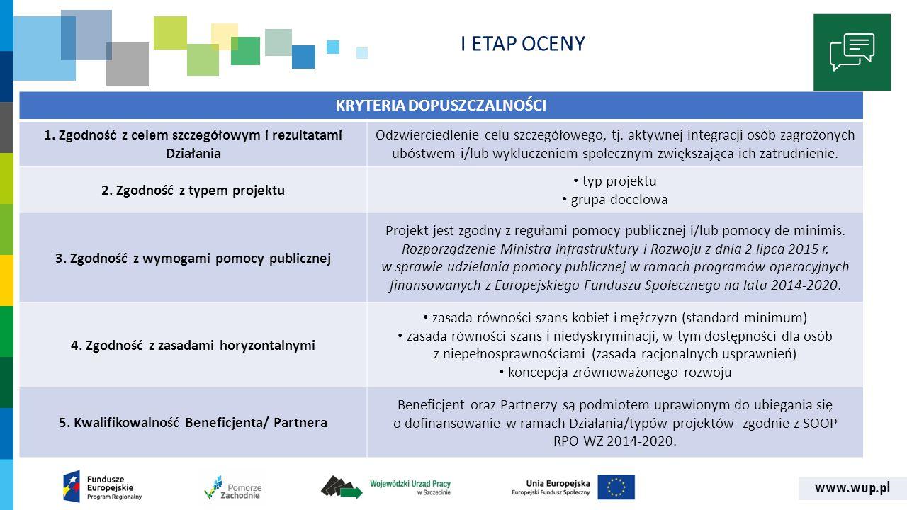 www.wup.pl I ETAP OCENY SZCZEGÓŁOWE KRYTERIA DOPUSZCZALNOŚCI 6.