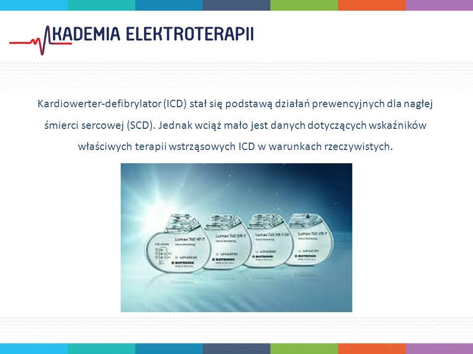 Kardiowerter-defibrylator (ICD) stał się podstawą działań prewencyjnych dla nagłej śmierci sercowej (SCD).
