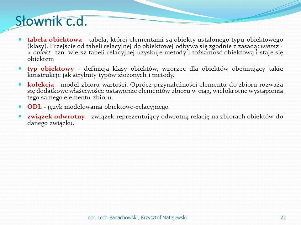 Słownik c.d.