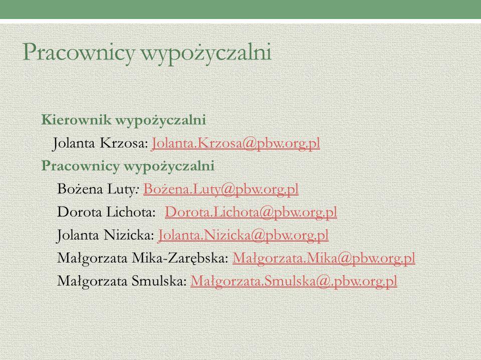 Wypożyczalnia Książek - katalogi