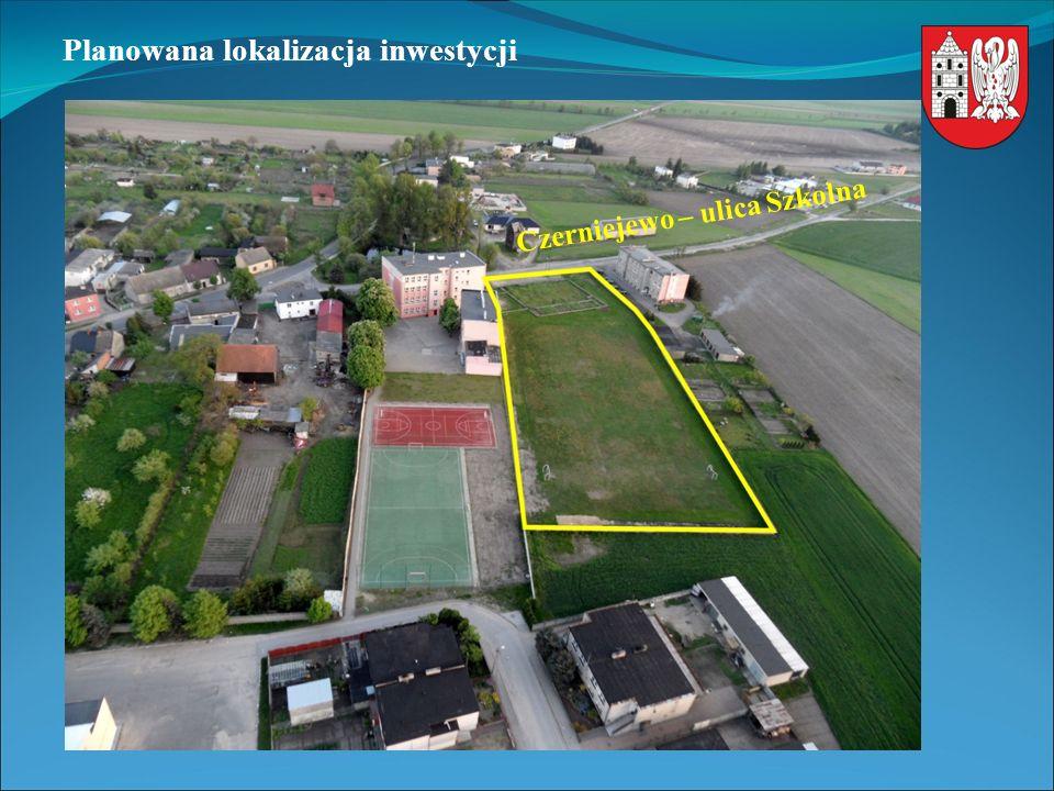 Planowana lokalizacja inwestycji Czerniejewo – ulica Szkolna
