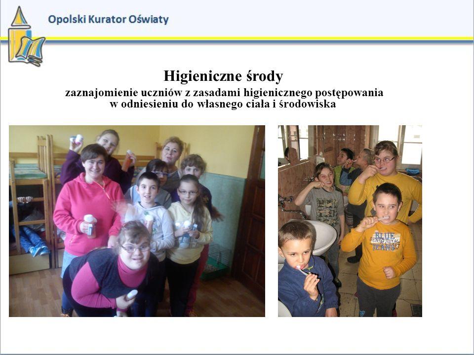 Higieniczne środy zaznajomienie uczniów z zasadami higienicznego postępowania w odniesieniu do własnego ciała i środowiska