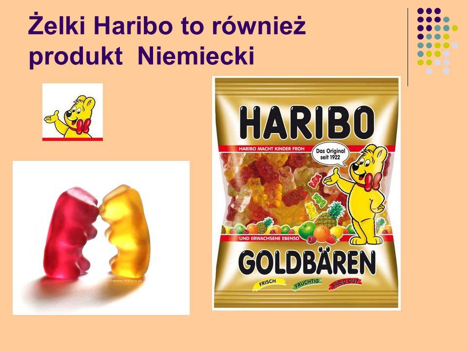 Żelki Haribo to również produkt Niemiecki