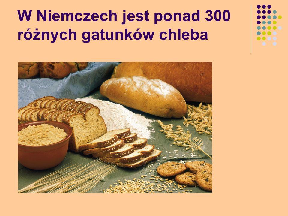 W Niemczech jest ponad 300 różnych gatunków chleba