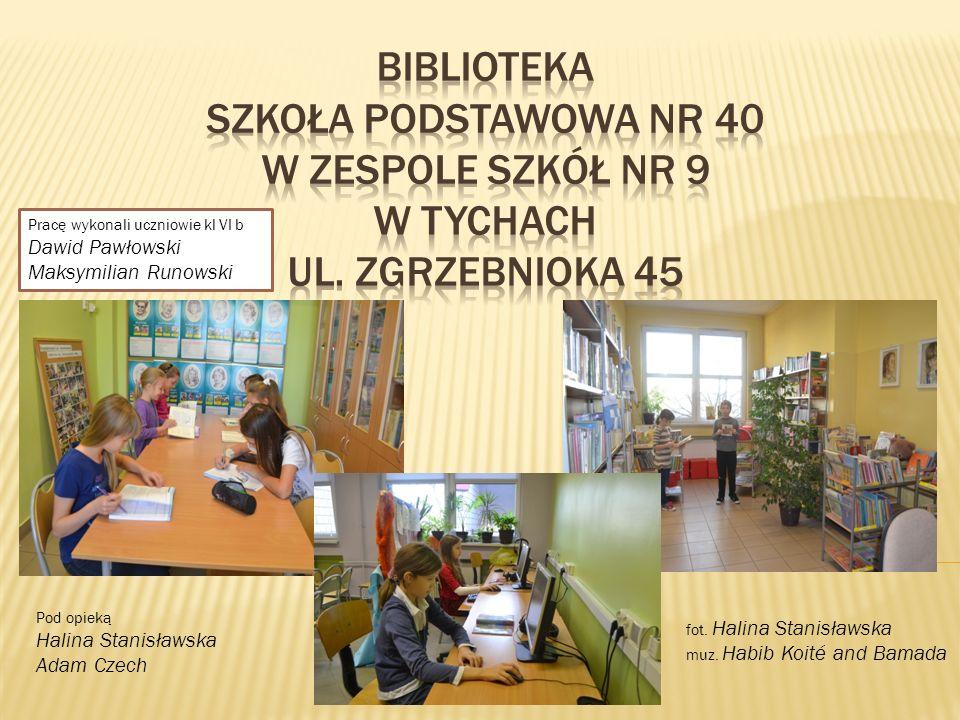 Pracę wykonali uczniowie kl VI b Dawid Pawłowski Maksymilian Runowski Pod opieką Halina Stanisławska Adam Czech fot.
