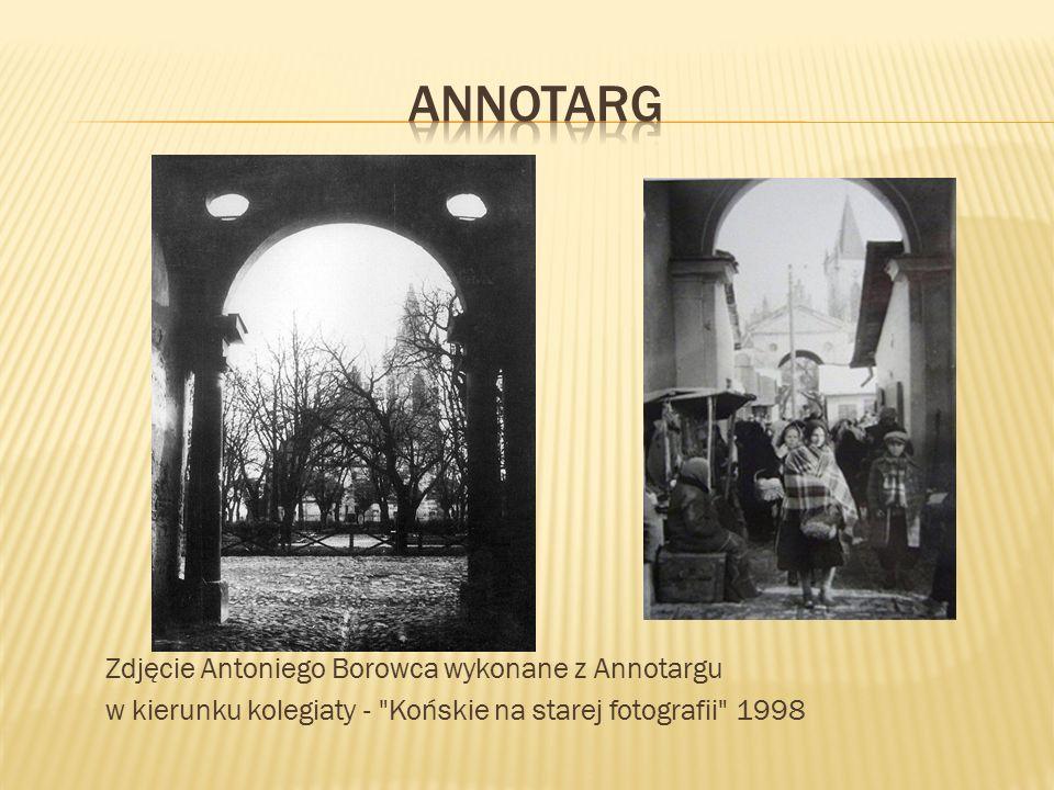 Zdjęcie Antoniego Borowca wykonane z Annotargu w kierunku kolegiaty - Końskie na starej fotografii 1998