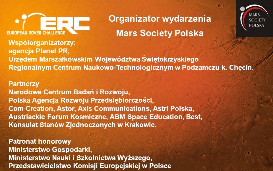 Współorganizatorzy: agencja Planet PR, Urzędem Marszałkowskim Województwa Świętokrzyskiego Regionalnym Centrum Naukowo-Technologicznym w Podzamczu k.