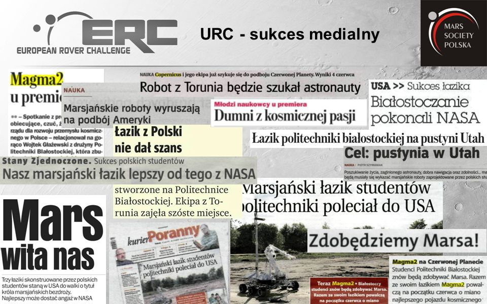 Lubański Robert Mars Society Polska http://www.marssociety.pl http://www.roverchallenge.eu Lrlubanski@poczta.onet.pl Tel.