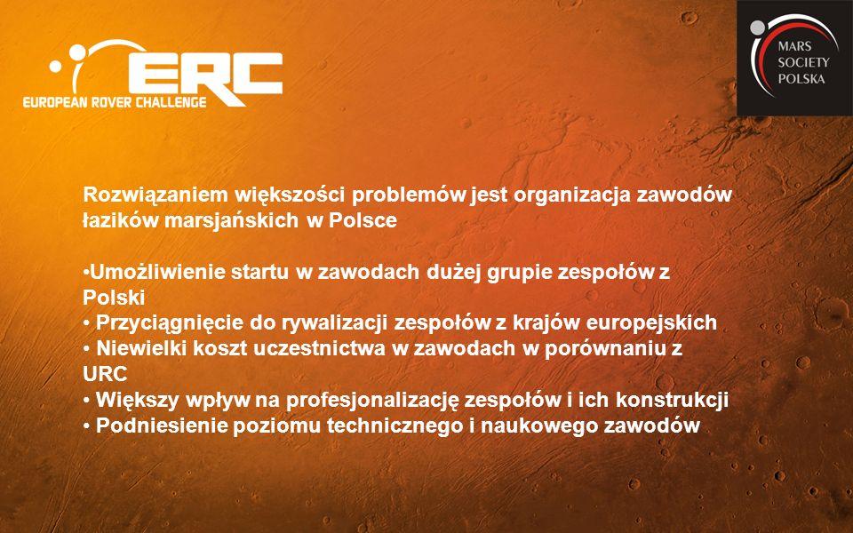 Rozwiązaniem większości problemów jest organizacja zawodów łazików marsjańskich w Polsce Umożliwienie startu w zawodach dużej grupie zespołów z Polski Przyciągnięcie do rywalizacji zespołów z krajów europejskich Niewielki koszt uczestnictwa w zawodach w porównaniu z URC Większy wpływ na profesjonalizację zespołów i ich konstrukcji Podniesienie poziomu technicznego i naukowego zawodów